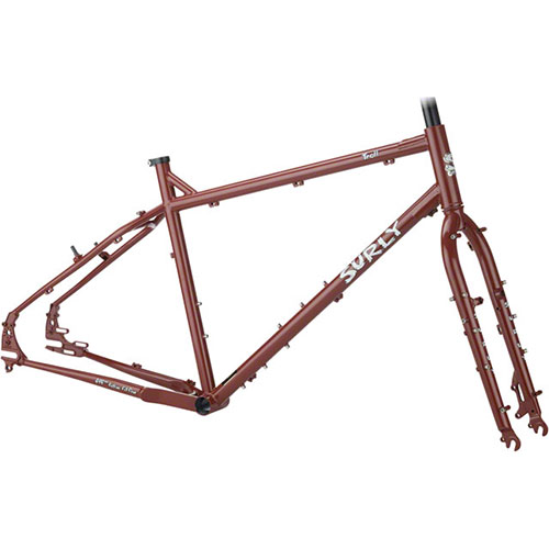 2017 Surly Troll Frameset Get Gone Maroon